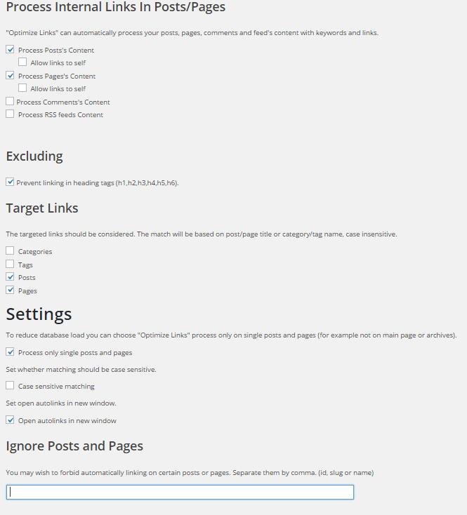 WP Optimize by xtraffic plugin settings