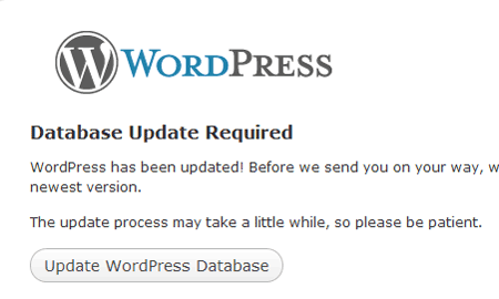 update wordpress database