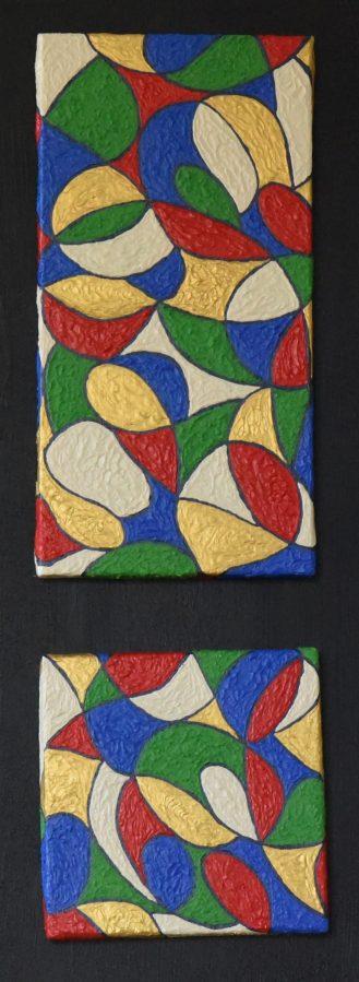 LIBERTÉ 1 LIBERTÉ 2 2 Acryliques présentées sur PANNEAU 75-30