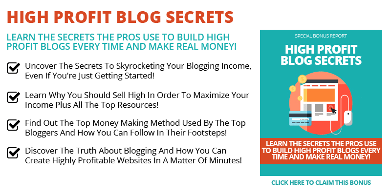 High Profit Blog Tactics