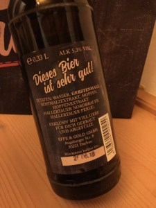 Effinger - The Dark Side of the Beer Rückenetikett