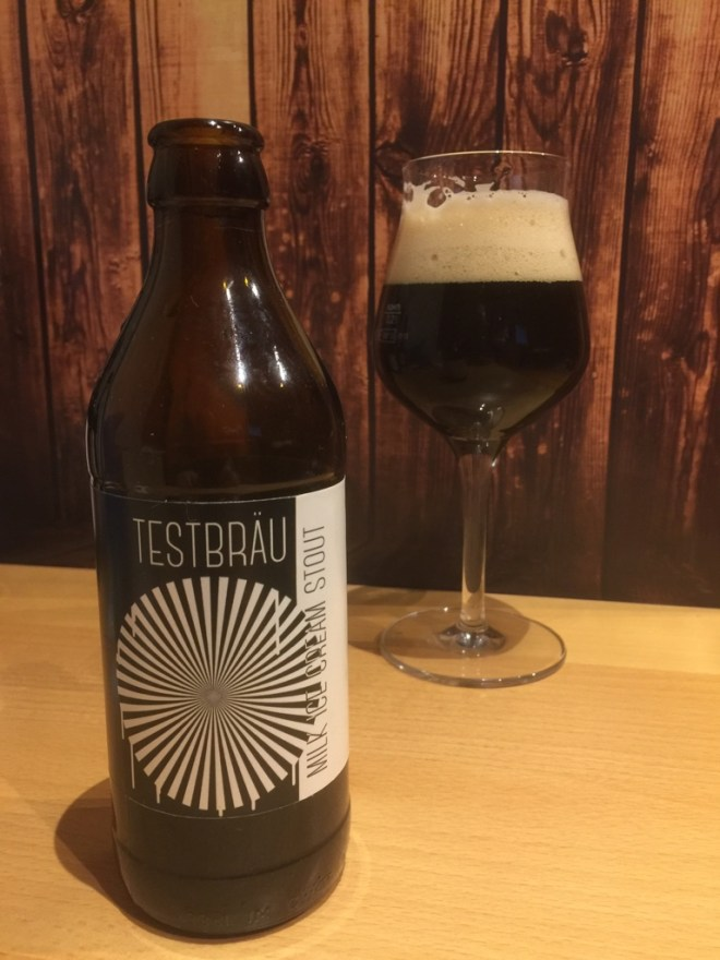 Testbräu - Milk Ice Cream Stout im Glas