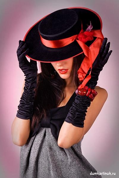 Девушка без лица, в красивой шляпе на аву вконтакт