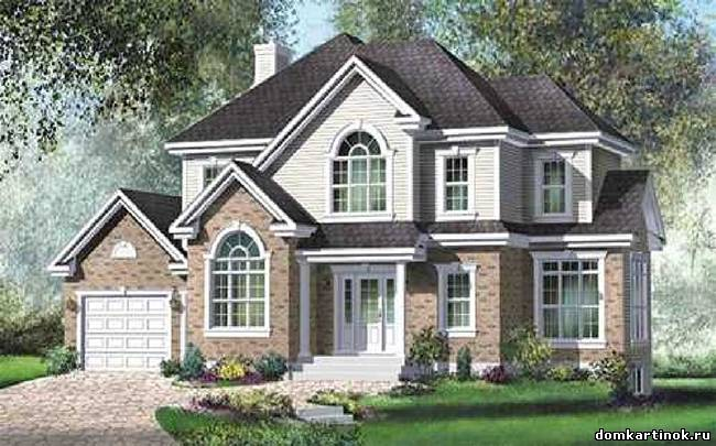 Красивый большой двухэтажный дом с гаражем.