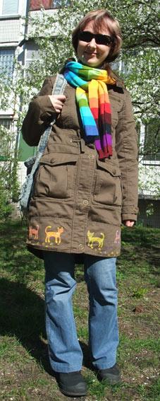 роспись по куртке