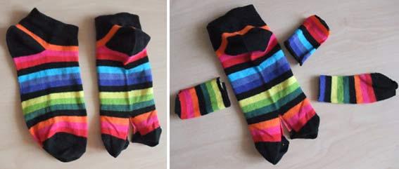 котик из полосатых носков