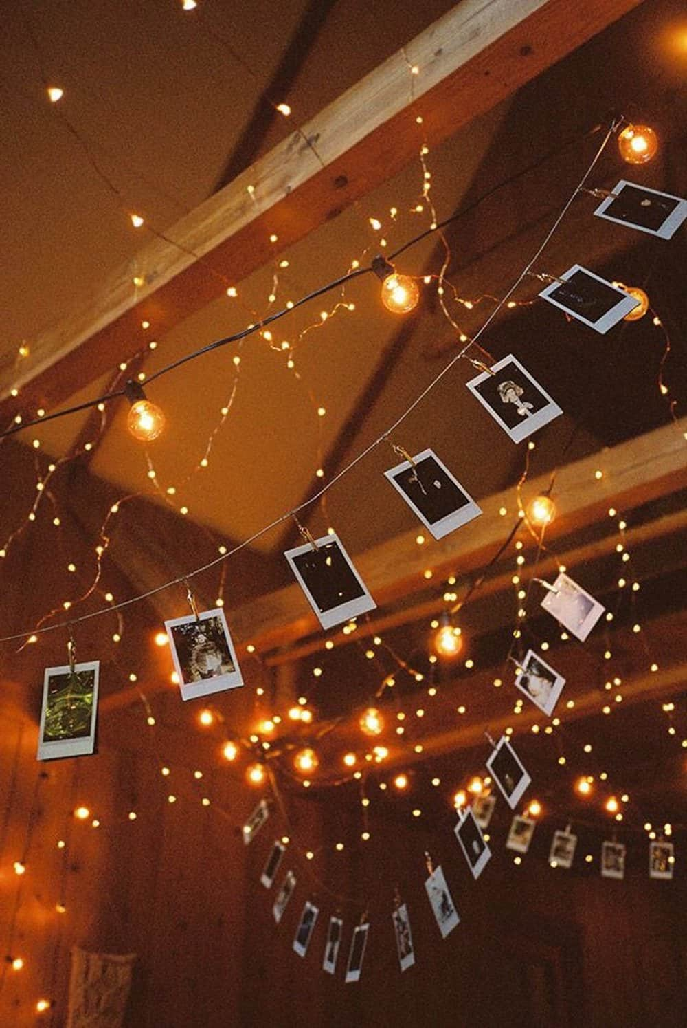 Memorable photos in tandem with an LED garland look very easy and magical