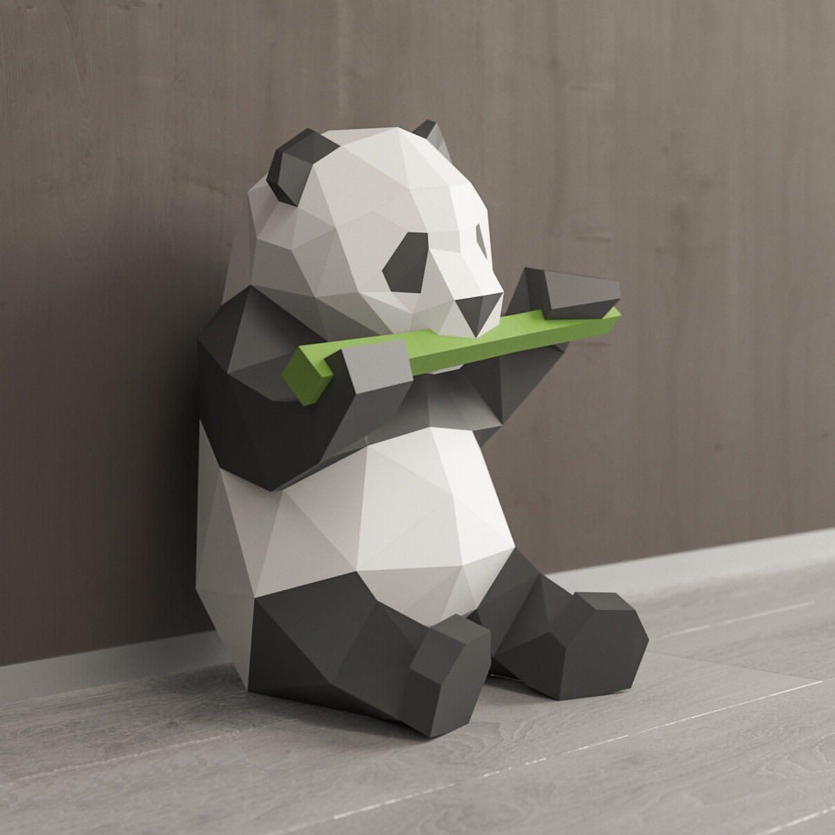 Panda - traditional symbol of the Japanese interior
