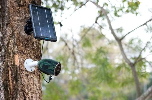 Le panneau solaire de la reolink go