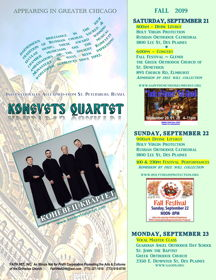 Konevets Quartet to sing in Chicago area September 21 to 23