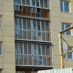 Остекление балконов, первоначальный вариант