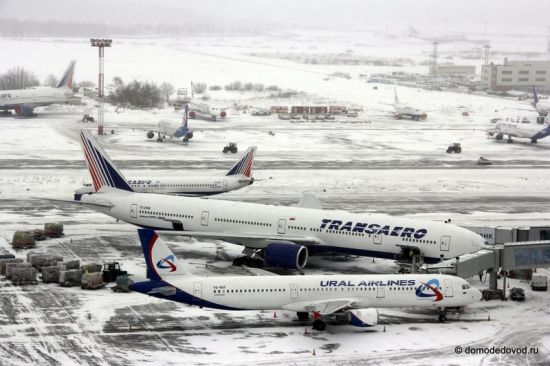 Boeing 777 Трансаэро и Airbus A321 Ural Airlines
