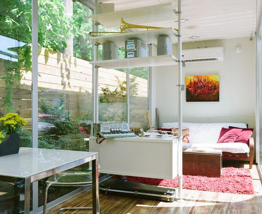 Cordell House - дом из контейнеров: проект одноэтажного дома