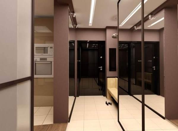 Дизайн узкого коридора в квартире: реальные фото в ...