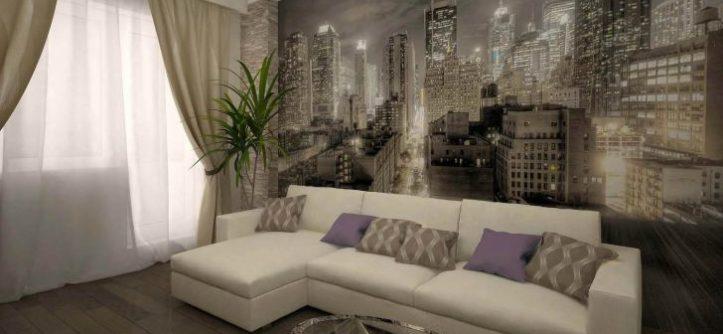 дизайн зала 16 квм в квартире фото 1