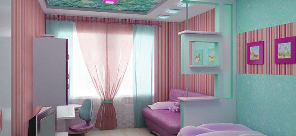 Дизайн детской комнаты для двух разнополых детей 12 кв.м ...