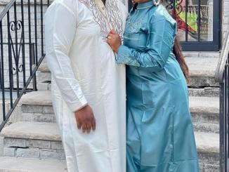 Tawa Ajisefini celebrates husband