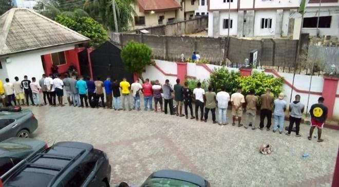 33 suspected internet fraudsters arrested in Calabar (photos)