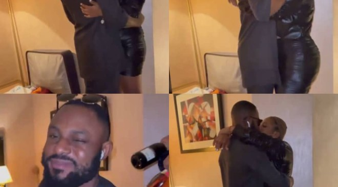 BBNaija's Tega and her husband hug and kiss for the first time after her eviction (video)