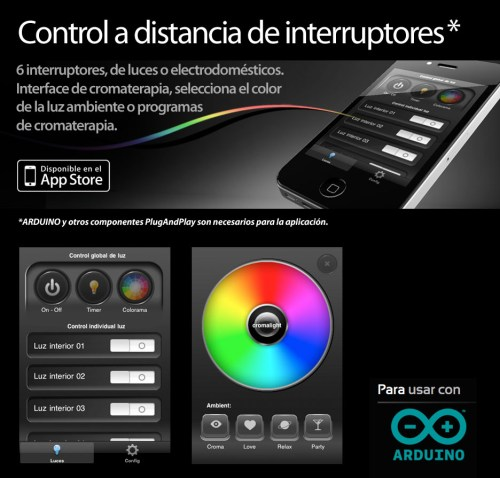 Cromalight control a distancia de luces