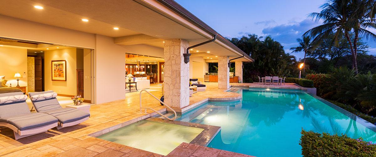 Maison connectée piscine connectée lumière domotique