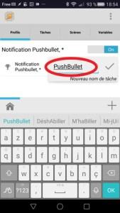 PushBullet Tâche