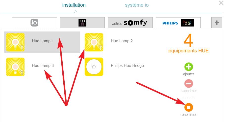 Création Automatique Des 3 Lampes