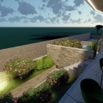 Luxusní byt s bazénem střešní terasou a výhledem na moře