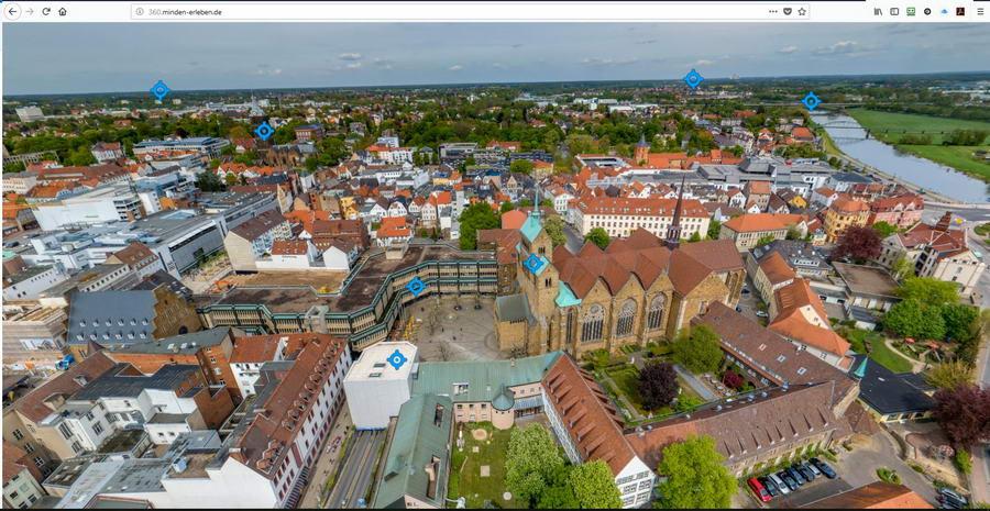 Dom und Domschatz Minden können bei dem 360-Grad-Stadtrundgang erlebt werden. Foto: MMG