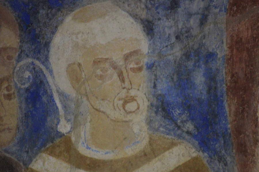 Ein Fresko in der Grabeskirche in Idensen zeigt Bischof Sigward. Foto: Bigmeck/pr
