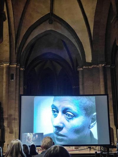 """Der Stummfilm """"Die Passion der Jungfrau von Orléans"""" wurde mit einer Live-Orgelimprovisation im Mindener Dom aufgeführt. Foto: DVM"""