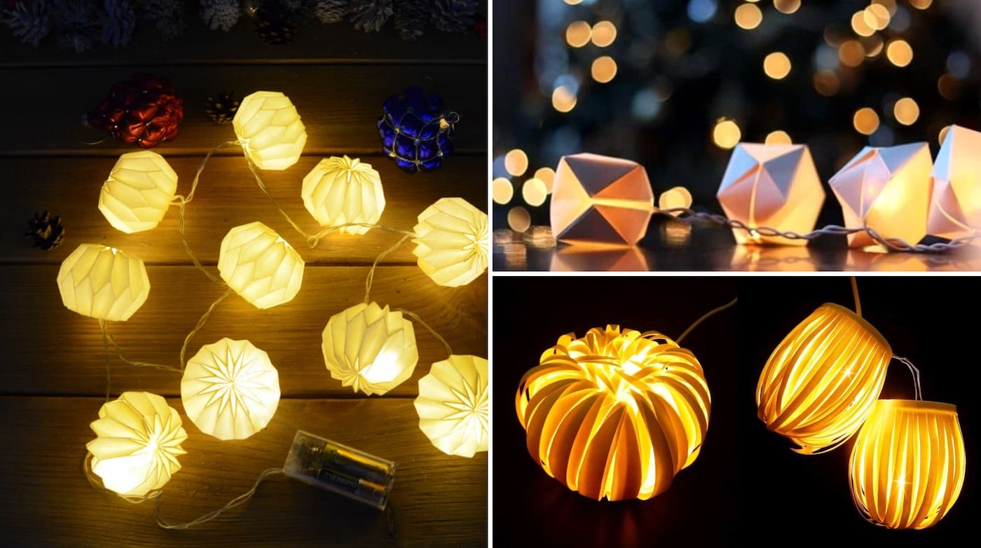 Electric garland with volumetric paper lanterns will help create a magical atmosphere of the new year