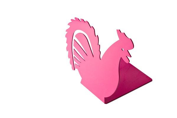 Podpórka do książek kogut różowy