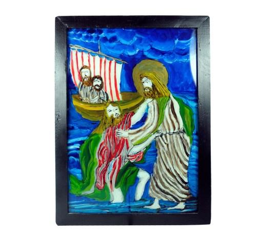 Obraz malowany na szkle - Chrystus uspokaja burzę