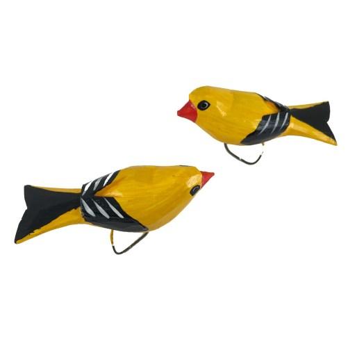 Stojący żółty ptaszek