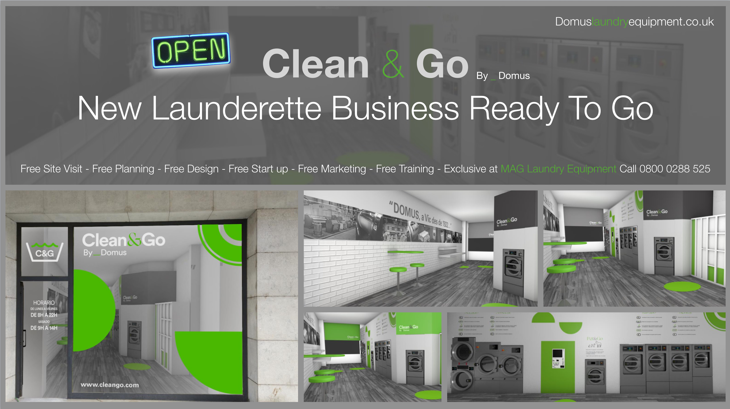 Starting a self-service launderette business 2018 free info pack