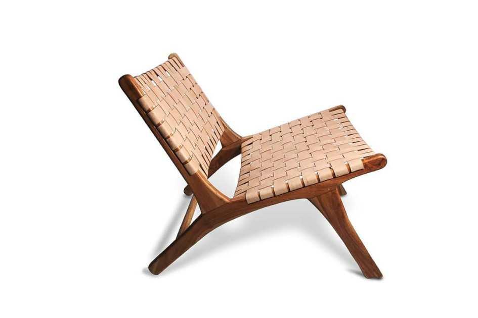 Woven-leather lounge Bali