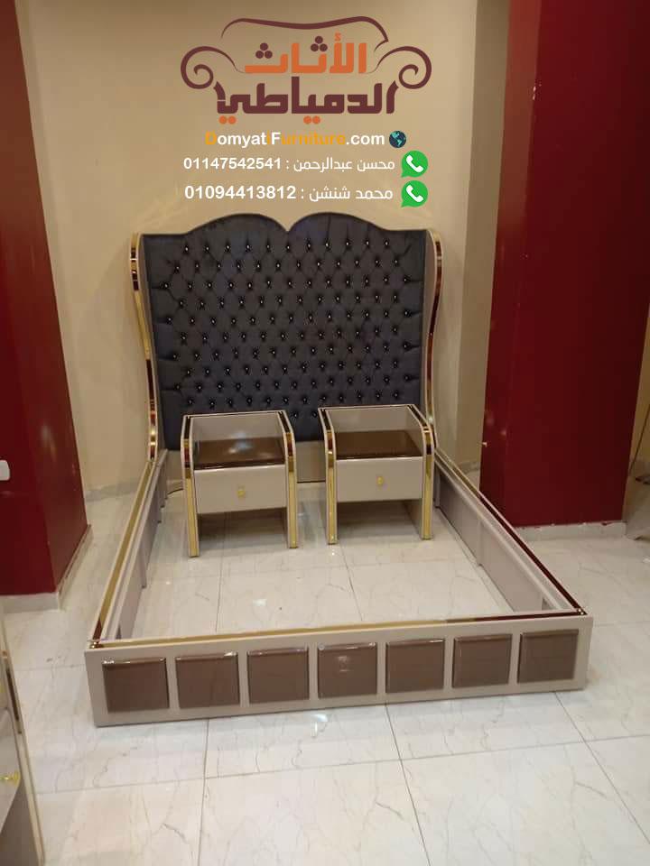 غرفة نوم مودرن 2019 سرير تنجيد