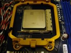 CPU meets motherboard.