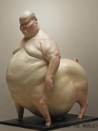 Liu Xue Sculpture Pig
