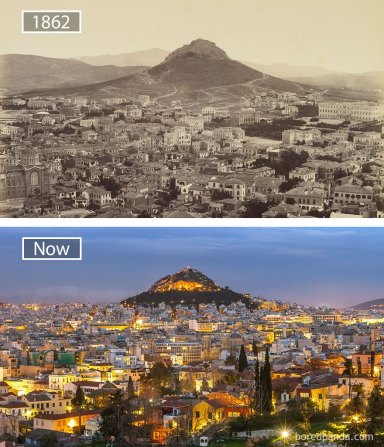 Athens, Greece - 1862 And Now