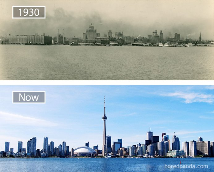 Toronto, Canada - 1930 And Now