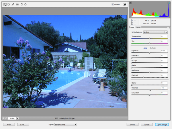 Edit JPEG Images as Camera RAW Files | Don's Digital Photo Corner - Blog