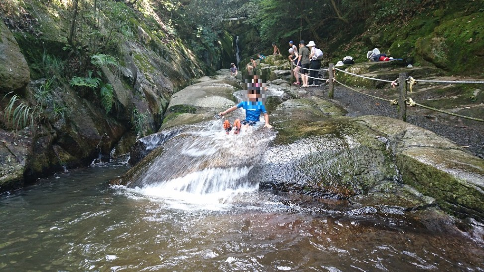 三郎の滝。広島県府中市