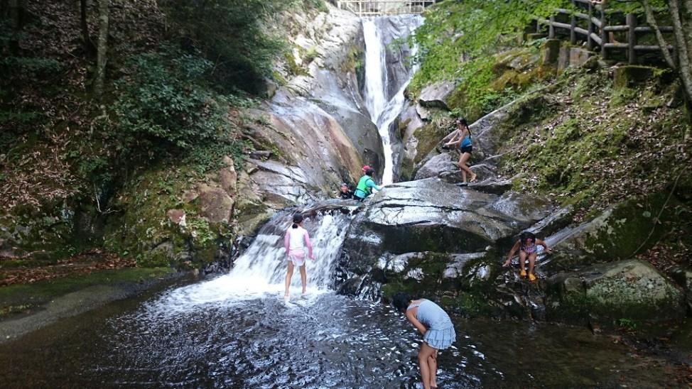 広島県府中市の三郎の滝にある次郎の滝