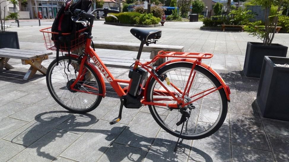 伊勢市観光協会外宮前観光案内所のレンタサイクル。電動アシスト自転車