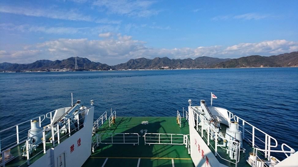 大久野島から忠海港へ向かう