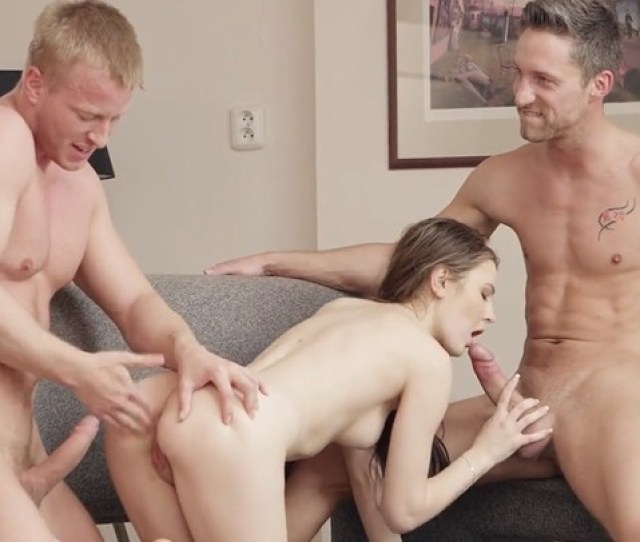 Two Guys Fucking One Tight Hole Her Teen Girlfriend