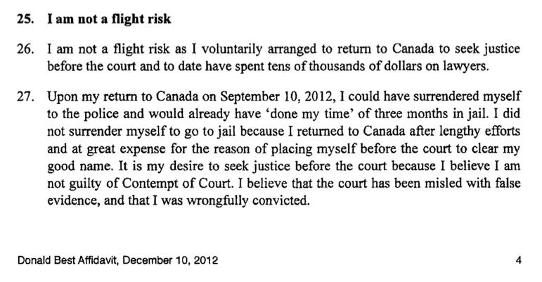 20121210 Affidavit Excerpt SAN