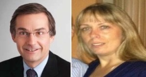Public Domain photos of Lawyer Gerald Ranking (L) and secretary Jeannine Ouellette (R)